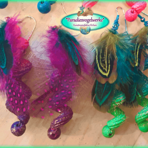 Feather earrings - 2 pieces compilation