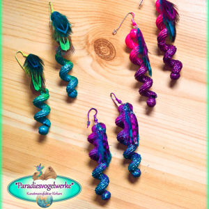 Feather earrings - 3 pieces compilation
