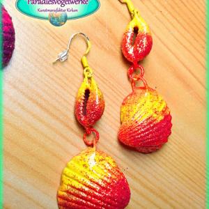 Shell Earrings - Orange (1)